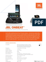 Specification Sheet - JBL OnBeat (English)