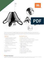 Specification Sheet - JBL Creature III (English)