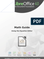 Libre Office 4.0 MathGuide
