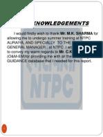 Training Report NTPC