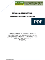 4. Memoria Descriptiva Electricas