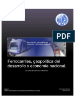 Ferrocarriles y La Geopolitica Del Desarrollo