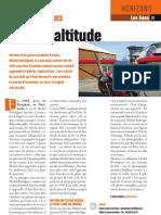 Prise d'altitude - Faire Face - juillet/août 2013