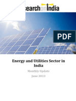 Energy and Utilities Sector in India Monthly Update June 2013
