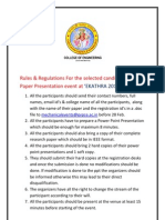 PPT Rules & Regulations