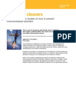 Caring for Cleaners