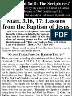 2010.04.14 - Matt 3.16-17 - Lessons From Baptism of Jesus