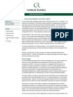 Briefing Note - CDR - Minority Shareholders and Their Rights - Jan 2009