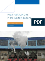 Fossil fuel subsidies in the Western Balkans