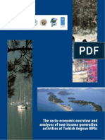 Analysis of new income generation activities at Turkish Aegean marine protected areas