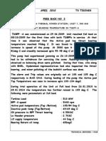 High Thrust Bearing Temp. in TDBFP-APR10