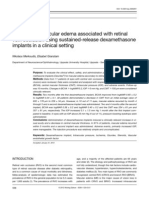 Treatment of macular edema associated with retinal vein occlusion using sustained-release dexamethasone implants in a clinical setting
