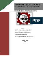 ZONAS VOLCANICAS EN EL PERÚ