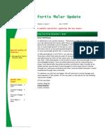 Fortis Malar Newsletter