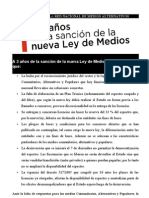 2012-09 RNMA A 3 a+¦os de la sanci+¦n de la nueva ley de medios