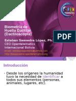 Biometria de Huella Dactilar - Dactiloscopia