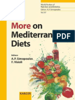 Artemis P. Simopoulos, Francesco Visioli More on Mediterranean Diets World Review of Nutrition and Dietetics Vol 97 2006