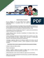 PRESENTACIÓN DE TRABAJOS