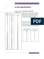 Wire Size Specifications