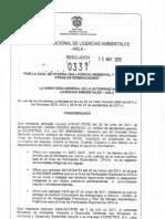Resolución 331 de 2012-aprobacion licencia