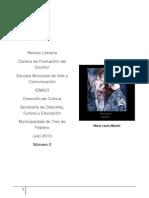f3 número 2 Revista Carrera Formación Escritor