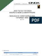 Onda TQ150 Tim Manuale Di Configurazione INTERNET MMS v 1 1