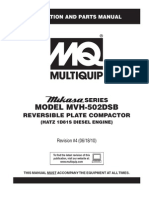 Plate Compactors Reversible MVH502DSB Rev 4 Manual