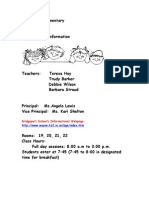 Kindergarten Handbook Revised 13_14