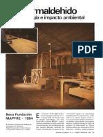 Formaldehido impacto ambiental