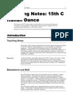Teaching Notes 15thc Italian Dance