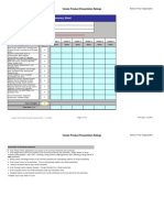 Vendor Product Presentation Ratings Form