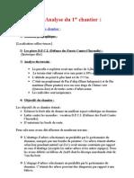Analyse Du Chantier