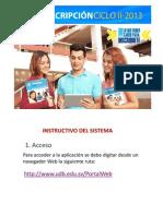 Guía para la inscripción de materias.