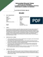 ID 0707 Procesos de Manufactura I