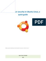 Personal User Security in Ubuntu Linux, A Quick Guide