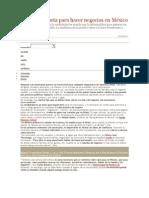 Guía de etiqueta para hacer negocios en México