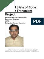 Clinical trials of Bone Marrow Transplant Project.