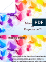 Implementación de Micro Red Solar  Administración de proyectos de TI