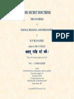 h. p. Blavatsky the Secret Doctrine 1(1)
