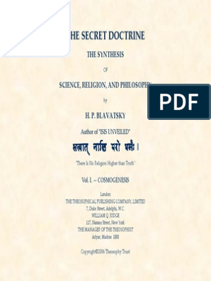 h  p  Blavatsky the Secret Doctrine 1(1) | Theosophy