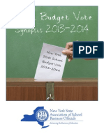 NYS Budget Vote Synopsis 2013-14