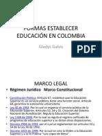 FORMAS ESTABLECER EDUCACIÓN EN COLOMBIA