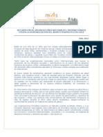 Declaracion Organizaciones Nacionales e Internacionales 12 de Julio