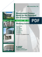 NIST Technical Note 1783 - Measurement Science Needs for the Expanded Use of Green Concrete, 2013