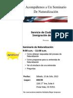USCIS Naturalization Workshop 7.13.13 Spanish
