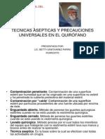 TECNICAS ASEPTICAS Y PRECAUCIONES UNIVERSALES EN EL QUIRÓFANO