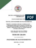 """""""DISEÑO Y CONSTRUCCIÓN DE UN MÓDULO CON VARIADOR DE FRECUENCIA PARA EL CONTROL DE VELOCIDAD DE MOTORES ASINCRÓNICOS JAULA DE ARDILLA TRIFÁSICOS PARA EL LABORATORIO DE CONTROL INDUSTRIAL"""