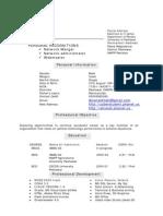 cv resume of m jan