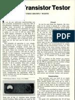 An R.F. Transistor Testor