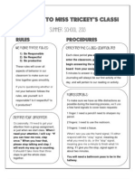 mcbride summer school rules handout 2013